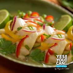 Ceviche!!! A delicious Yes You Can! Diet Plan dinner recipe with great flavor!