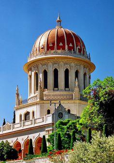 Shrine of the Báb on Mount Carmel - Bahai's temple - Haifa - Israel