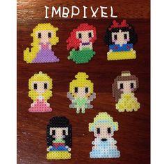 Disney Princess perler beads by imbpixel