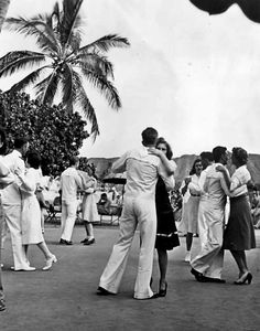 Dancing at the Royal Hawaiian Hotel, Honolulu, Hawaii, 1942