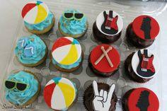 Beach & Band themed cupcakes