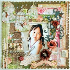 Such a sweet layout. @Irene Tan #bobunny #scrapbooking