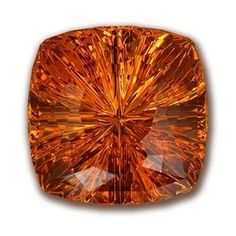 square cushion citrine took second place in the Innovative Faceting division of the 2012 AGTA Cutting Edge Awards.