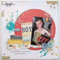Linda Langes for Scrapbook Boutique - Echo Park That's My Boy Collection
