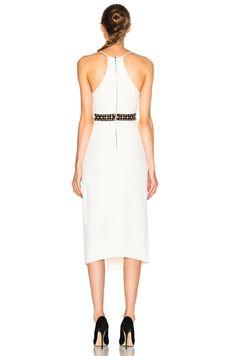 Image 4 of David Koma V Cut Dress in White
