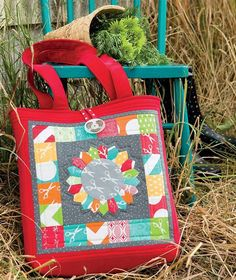 """""""I think that I shall never see, a Dresden that doesn't speak to me!"""" That's what Uncommonly Corduroy author Stephanie Dunphy says about her I ❤ Dresdens bag. If you adore it as much as we do you'll want to hop over to our #StitchThis blog today and pick up Stephanie's eBook - it's 40% off and there are 6 more of her bag patterns inside! (You'll swoon over her quilts too). @loftcreations #sewing #sewinglove #cutebag"""