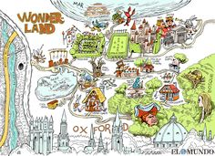 Alice In Wonderland Map 8 Best maps images | Alice in Wonderland, Fantasy map, Lewis carroll Alice In Wonderland Map