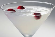 "THE ULTIMATE WHITE COSMOPOLITAN: My friend Rob introduced me to this delicious White Cosmo at a terrific sushi bar he frequents. A take on the classic, it had the perfect balance of sweet and tart and went down really easy. ""Sex in the City"" may have made the Cosmo famous, but the cocktail was always cool. Make the ultimate cosmopolitan for yourself tonight!"
