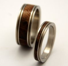 Miracles Happen Wooden Wedding Rings by MinterandRichterDes