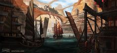 """""""Base in the River"""" -- isra-ac on deviantArt"""