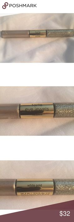 TARTE Tarteist PRO EYE JEWELS Glitter Eyeliner BRAND NEW IN BOX AND Guaranteed 100% Authentic TARTE!  LIMITED EDITION IN ✨WHITE GOLD✨  Sold out  - so perfect FOR SUMMER! ☀️  NIB ONLY TAKEN OUT FOR PHOTOS!  Tart tarteist pro glitter liner eyeliner eye jewels metallic and glitter formula in coordinating ultra glam shades!  On one end you'll find a metallic quick dry liquid liner with an ultra fine brush tip to define eyes with lustrous opaque pigment and the other has gorgeous flecks of liquid…