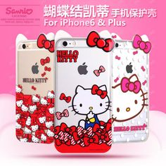 NEW hot cute cartoon bow hello kitty soft case cover for apple iphone 6 6S plus  #UnbrandedGeneric