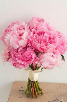 Brautstrauß pink Pfingstrosen