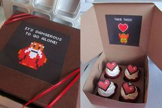 Legend of Zelda Cupcakes | Link tomaba cupcakes para recuperar corazones en The Legend of Zelda