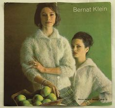 KNITTING PATTERN FOR MOHAIR YARN, 1960s. Bernat Klein wanted to create textiles for the average customer. In 1963 he launched a coordinated range of knitting wool, patterns and matching skirt lengths to allow people to achieve the 'Bernat Klein look' at home.