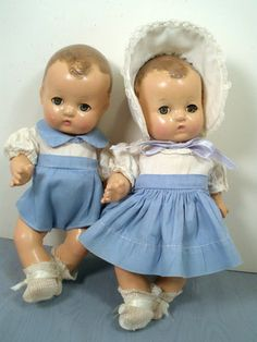 1932-Effanbee-Patsy Baby-Doll Twins