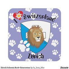Zürich Schweiz Kork-Untersetzer Getränke Untersetzer