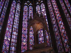 stained glass :  Paris La Sainte-Chapelle. I missed this last trip but its a must-see next time!