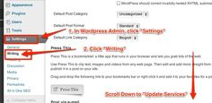Ping List Wordpress 2014, Quick Index Services process Latest Tips Online Ping List About, Wordpress, Search Engine Optimization Tips,