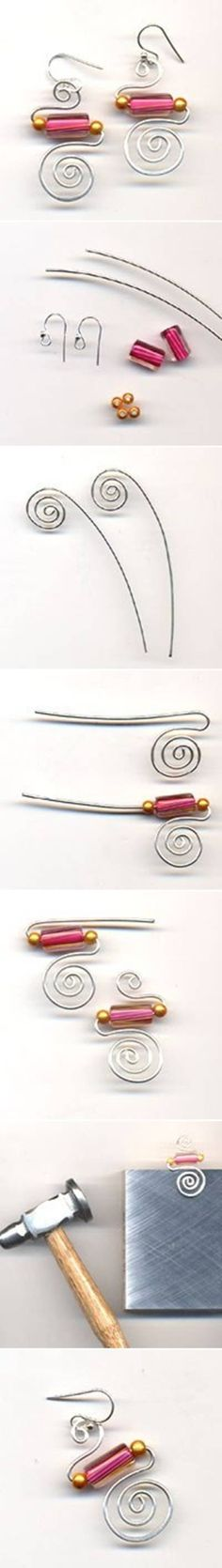 DIY Simple Stylish Wire Earrings DIY Simple Stylish Wire Earrings by diyforever