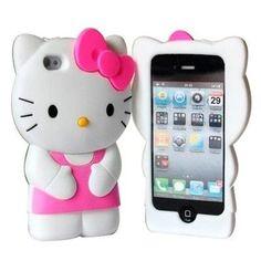 Capa para Iphone 4 3D Hello Kitty R$50.