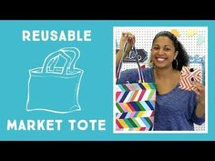 ▶ Reusable Market Tote: Easy Sewing Project with Vanessa from Crafty Gemini Creates - YouTube