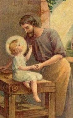 EL NIÑO JESÚS CON PAPÁ JOSÉ