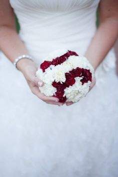 How to incorporate baseball in your big day: discreet baseball bouquet wouldnt do this but cute idea....Thought of you Nicole