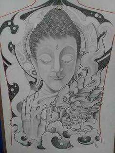 Back Tattoo, I Tattoo, Khmer Tattoo, Desing Inspiration, Thailand Tattoo, Buddha Art, Religious Cross, Thai Style, Tattoo Sketches