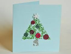 To make this card, you'll need a blank greeting card along with green color pieces of paper and few coat or shirt buttons as ornaments on the Christmas tree. Christmas Card Craft Idea #Christmas #Parenting PARENTING HEALTHY BABIES