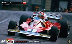 Adesivo Niki Lauda Ferrari 312T2 Rush F1 Formula 1 Sticker