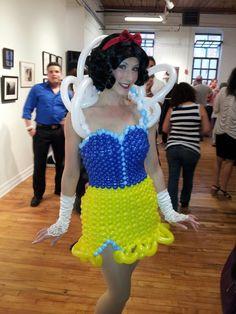 Snow White Themed Balloon Dress