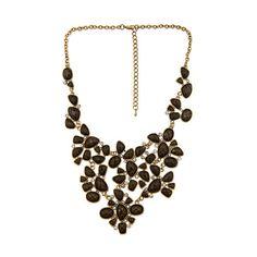 Blu Bijoux Stone Facet Bib Necklace ($60) ❤ liked on Polyvore