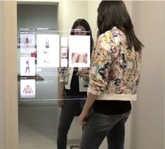 MERo Interactive Mirror Display in Fitting Rooms Interactive Mirror, Interactive Display, Merida, Digital Retail, Retail Customer, Only Shirt, Store Layout, Changing Room, Digital Signage