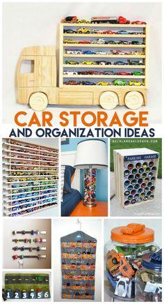 car storage and organization ideas--super awesome hacks! I love the parking garage!: