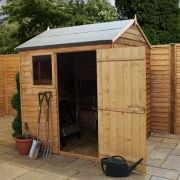 Winchester 6ft x 6ft (1.76 x 1.78) Overlap Reverse Apex Shed