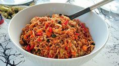 Saras madunivers: Labre nudler med masser af grønt og chili, tomat &...