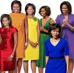 OUR  FIRST LADY MICHELLE OBAMA VARIETY OF DRESSES!