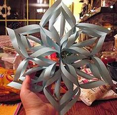 How to Make a 3D Paper Snowflake.