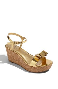 kate spade new york 'bandit' cork wedge sandal - perfect for summer!