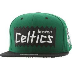 989c358be209dd BAIT x NBA x Mitchell And Ness Boston Celtics STA3 Wool Snapback Cap (green  / black)
