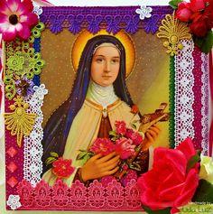 Lidia Luz: Viva Santa Terezinha! Fairy Box, Tin Art, Arts Ed, Mexican Folk Art, Divine Feminine, Love Sewing, Religious Art, Illustration Art, Illustrations