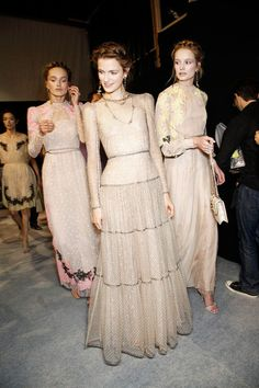 Valentino Spring 2012. romantic braids, lace, sheer. what's not to love?