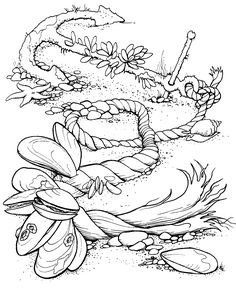 Ocean Scene Coloring Pages Color
