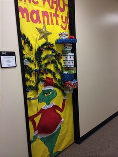 Best idea for christmas door decorating so going to do ...