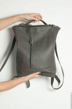 Купить Рюкзак серый городской из натуральной кожи #15.07.16 - серый, рюкзак