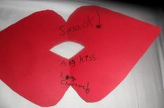 Photos of children's handmade Valentines for the First Love project.
