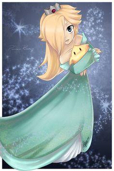 Princess Rosalina ( Mario galaxy) <-- she has to be my favorite mario character, and i always play her in mario kart!
