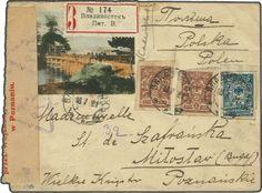 Far East Republic / Priamur 1921 (July 18): Colour illustrated envelope sent registered from Vladivostock to Miloslav near Poznan, Poland fr...