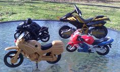 """Lot Of 4 Toy Motorcycles Motor Bikes 4.5"""" to 7"""" Motor Cycle #Unbranded"""